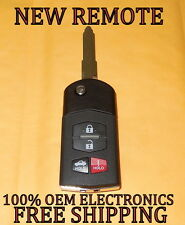 NEW MAZDA 3 5 6 CX-7 CX-9 FLIP KEY KEYLESS ENTRY REMOTE FOB BGBX1T478SKE12501