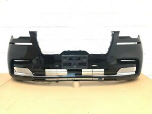 2020-2021 lincoln aviator front bumper with 6 sensors (infinite black color) #1