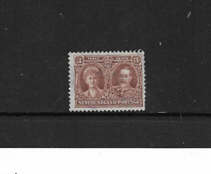 1928 NEWFOUNDLAND - KING GEORGE V & QUEEN MARY - MINT AND LIHGTLY HINGED.