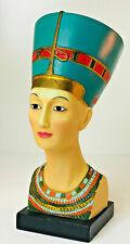 "Egyptian QUEEN NEFERTITI 10"" Tall Head Bust Statue Figurine"