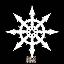 CHAOS SYMBOL Circle vinyl Sticker / Decal Heavy Metal PUNK Sign Anarchy