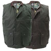 High Mount Wax Waistcoat 100% Cotton Oilskin Gilet Bodywarmer Country Farm Vest