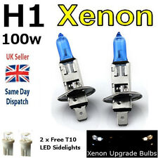 H1 100w SUPER WHITE XENON (448) Head Light Bulbs 12v + W5W 501 LED Sidelights