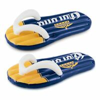 Summer Waves Corona Inflatable Left and Right Flip Flop Pool Floats w/ Cupholder