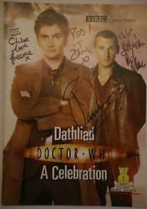 Doctor Who - A Celebration - signed event programme with ticket