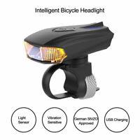 USB Wiederaufladbare Licht Induktion Schock Sensor Wasserdicht Fahrrad Lampe