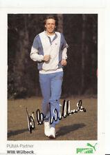 Willi wülbeck Top Puma AK 80er Years Original Signed leichathletik +a46037