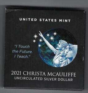 USA: Silber Dollar 2021, Christa McAuliffe, uncirculated, stempelglanz
