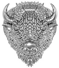 WILD BUFFALO HEAD STAINLESS STEEL RING size 14 silver metal S-509 with HORNS new