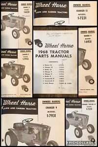 Wheel Horse 1968 Tractor Owner Manuals- Electro 12 / Charger Raider Commando
