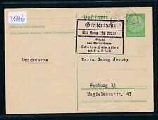 21776) rda, país post publicidad-ra6 greifenhain sobre bornas (BZ. Leipzig) visitado...
