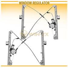 2pcs Front Left+Right Power Window Regulators w/ Motor Fit Cadillac/Chevy/GMC