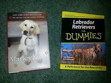 Set of 2 Dog Training Books Lab Labrador Retrievers for Dummies Marley and Me