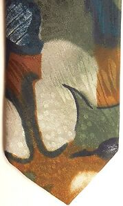 """Forte Men's Polyester Tie 57.5"""" X 3.5"""" Multi-Color Abstract"""