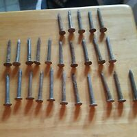 Lot of 26 Consecutive Vintage Antique Railroad or Pole Nails Dated 1925 - 1950