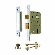 "Genuine ERA 3 Lever Mortice Sash Lock For Timber Doors - 2.5"" (65mm) - Chrome"