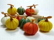 12 Mixed Miniature Dollhouse Pumpkins for Autumn Decoration or Thanksgiving