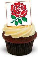 ENGLISH ROSE - 12 Edible Stand Up Premium Wafer Cake Toppers