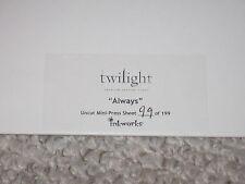Twilight Inkworks Always Uncut Mini Press Sheet Sealed Numbered 99 of 199
