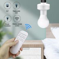 E26 E27 Wireless Remote Control Light Bulb Holder Socket Lamp Base Cap Switch