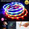 USB Rechargeable Pet Dog Collar LED Flashing Light Up Safety Belt Waterproof US