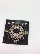 $68 Givenchy Stone Black  Faceted Cluster Pin #696