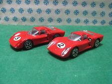 Vintage - Two  ALFA ROMEO Daytona 33/2  - 1/43  Politoys 583  1969 and 1970