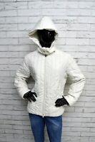 Giubbino FILA Donna Giacca Taglia 46 Jacket Woman Bianco Imbottito Giubbotto