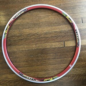 New-Old-Stock ROLF Vector Comp Clincher Rim • 20 Hole • Red • 700c