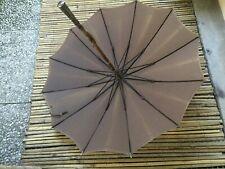 ombrelle parapluie ancien pommeau argent poinçons initiales AP