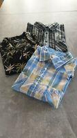 3 Herren Hemden, kurzarm, Gr. XXL, Baumwolle