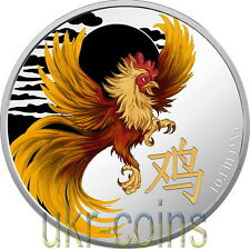 2017 Cameroon 雞/鷄 Lunar Year of the Rooster 1Oz Silver Proof Coin Chinese Zodiac