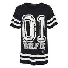 T-shirts et hauts noirs en polyester pour garçon de 2 à 16 ans