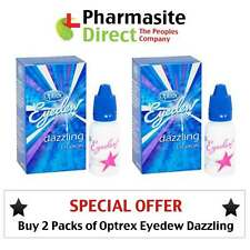 Buy 2 Packs - 10ml Optrex Eyedew Dazzling Drops Eye Whitening Clear - FREE POST