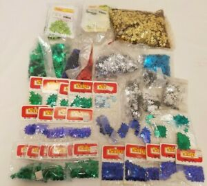 Huge Lot of Vintage Sulyn Star Shaped Loose Craft Sewing Sequins Assorted Sizes