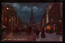 tuck horse carriages regent street scene at night london uk postcard