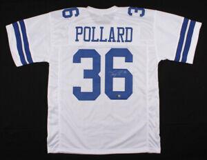 Tony Pollard Signed Dallas Cowboys Jersey (TriStar Holo) 2019 4th Rd Pick RB