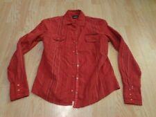 Women's Harley Davidson S L/S Collared Shirt Red