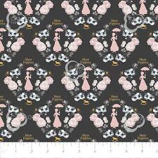 Mary Poppins Fabric, Metallic 100% cotton Disney Camelot Fabrics 85460101L black
