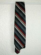 "Guy Laroche Men's Tie  Dk. Blue w/ Stripes, Skinny, < 3"" W, < 57"" L, Polyester"