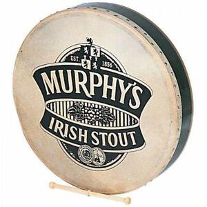 "Bodhran Irish Frame Drum 18"" With Natural Skin & Beater P1149 Murphy -- With Bag"