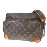 Authentic LOUIS VUITTON Nile Shoulder Bag Monogram Leather Brown M45244 30MF122