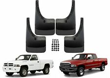 4pc Front & Rear Molded Mud Flaps For 1994-2001 Dodge Ram New Free Shipping USA