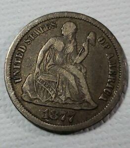 1877 CC Seated Liberty Dime
