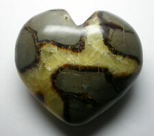 large Septarian crystal Heart 86mm
