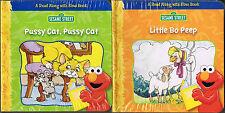 Elmo & Friends PUSSY CAT PUSSY CAT & LITTLE BO PEEP Read-Along Hands-On Book Set