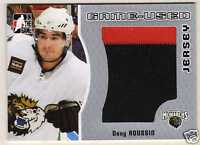 05-06 ITG Dany Roussin Jersey /100 Heroes & Prospects 2005