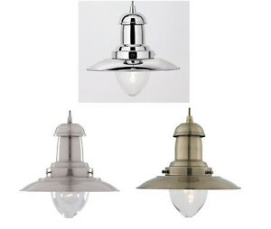 Modern Fishermans Pendant Ceiling Lamp Lighting, in a choice of Finishes