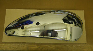 AJS MATCHLESS AMC CONCOURS CHROME FINISH TANK SIDE PANELS PAIR NOT MADE IN INDIA
