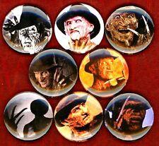 Freddy Krueger 8 NEW buttons pins badges nightmare on elm street horror movie